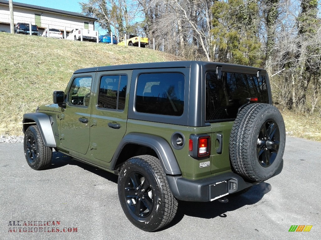 2021 Wrangler Unlimited Sport Altitude 4x4 - Sarge Green / Black photo #8