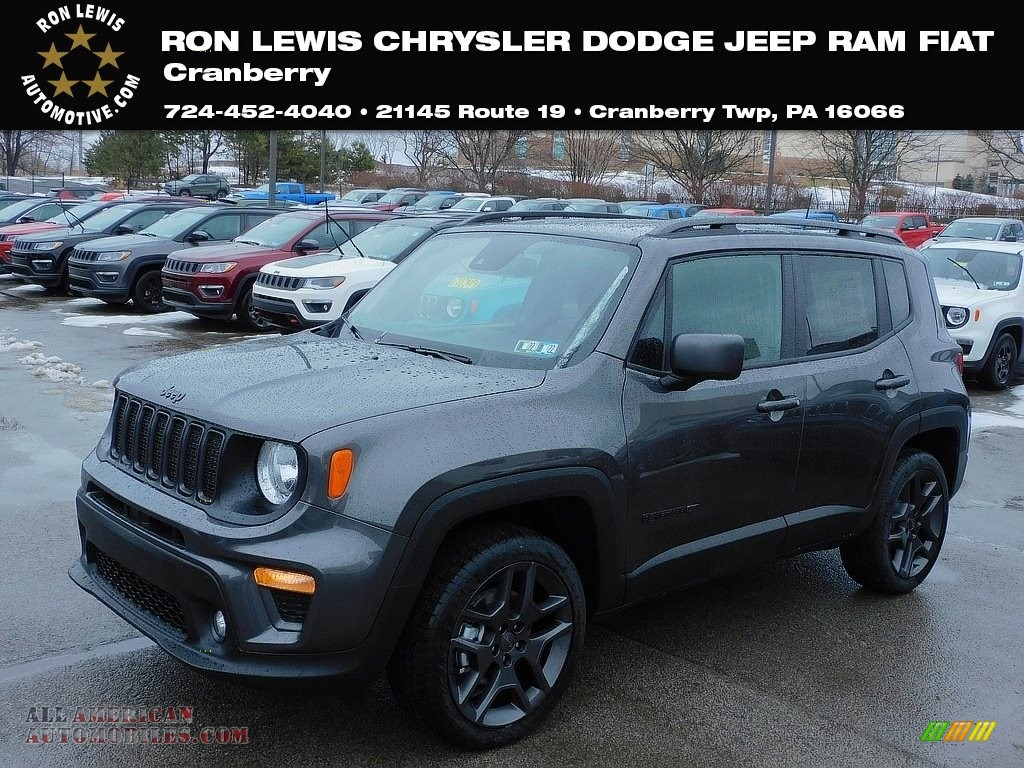 Granite Crystal Metallic / Black Jeep Renegade 80th Annivesary 4x4