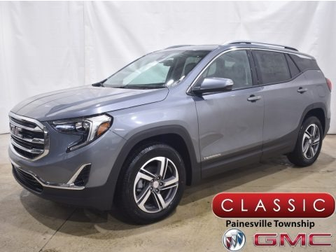 Satin Steel Metallic 2021 GMC Terrain SLT AWD