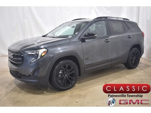 Graphite Gray Metallic 2021 GMC Terrain SLE AWD