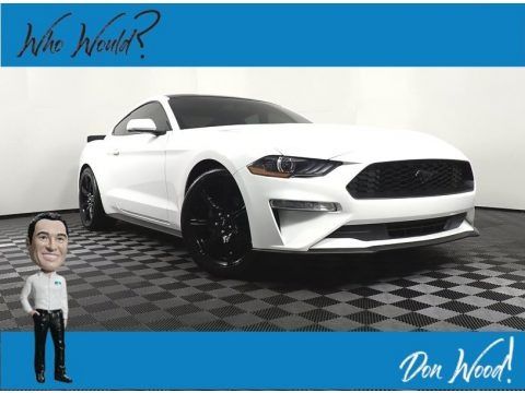 Oxford White 2019 Ford Mustang EcoBoost Fastback