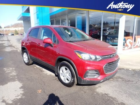 Crimson Metallic 2021 Chevrolet Trax LS AWD
