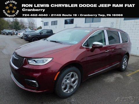 Velvet Red Pearl 2021 Chrysler Pacifica Limited AWD