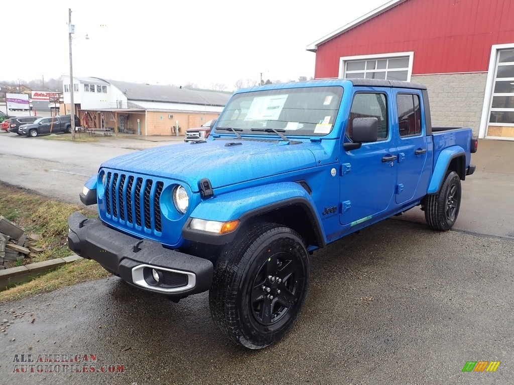 2021 Gladiator Sport 4x4 - Hydro Blue Pearl / Black photo #1