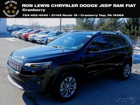 Diamond Black Crystal Pearl 2021 Jeep Cherokee Latitude Lux 4x4