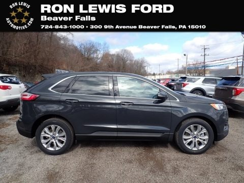 Carbonized Gray Metallic 2021 Ford Edge Titanium AWD