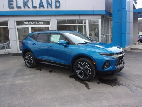 Bright Blue Metallic 2021 Chevrolet Blazer RS AWD