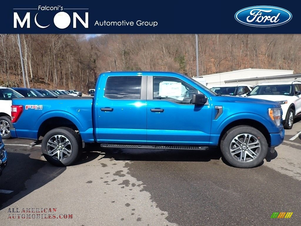 2021 F150 STX SuperCrew 4x4 - Velocity Blue / Black photo #1