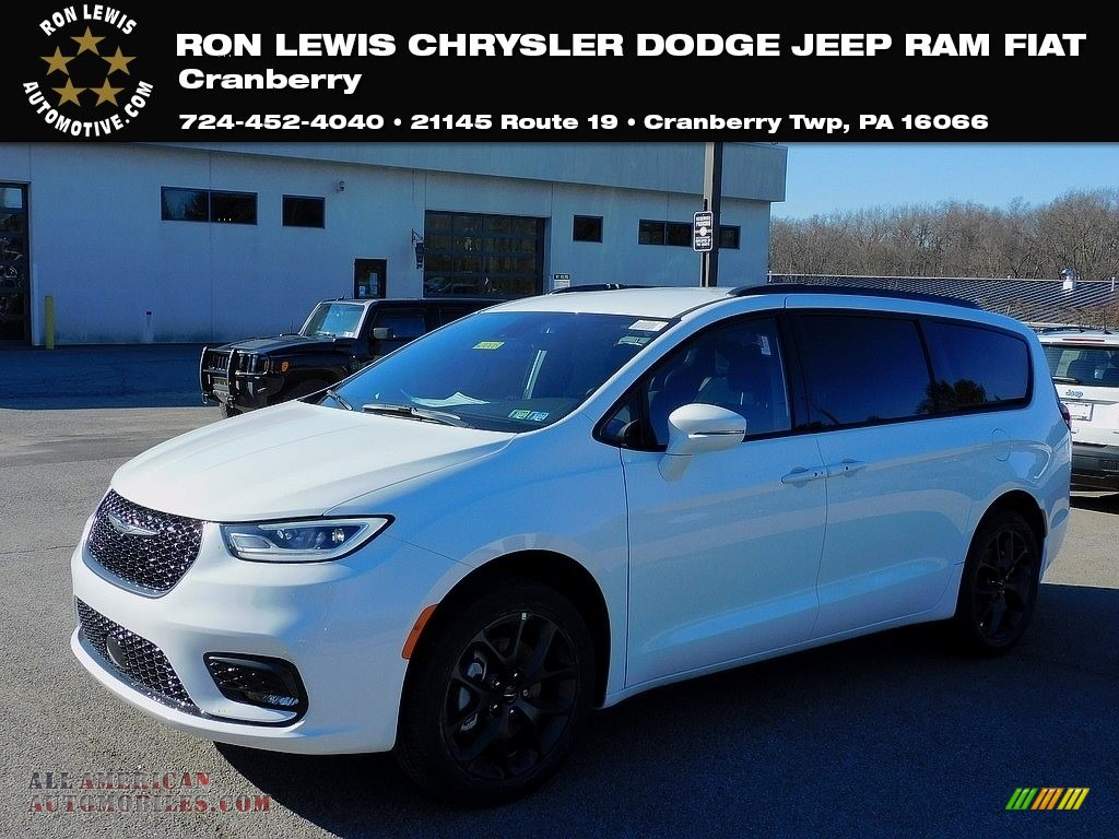 Bright White / Black Chrysler Pacifica Touring AWD