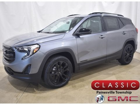 Satin Steel Metallic 2021 GMC Terrain SLE AWD