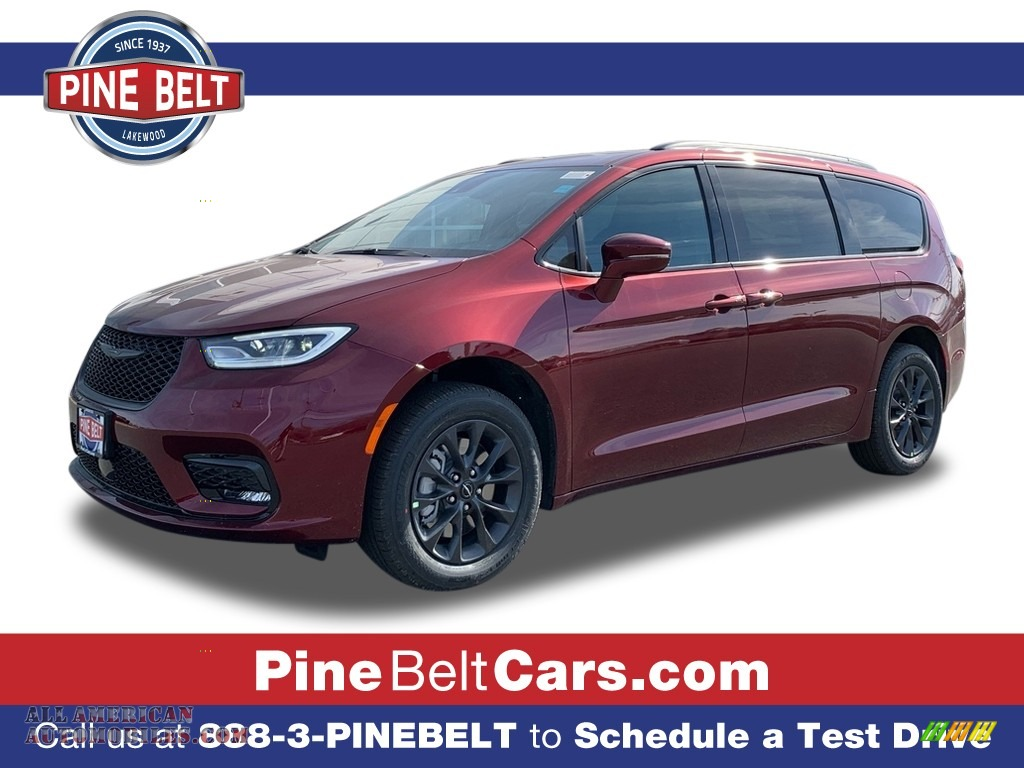 2021 Pacifica Touring L AWD - Velvet Red Pearl / Black photo #1