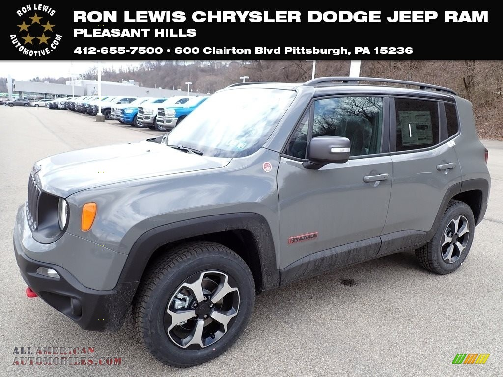 2021 Renegade Trailhawk 4x4 - Sting-Gray / Black photo #1