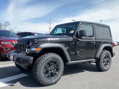 Black 2021 Jeep Wrangler Willys 4x4