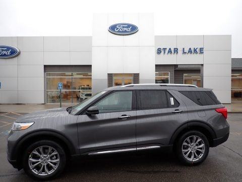 Carbonized Gray Metallic 2021 Ford Explorer Limited 4WD