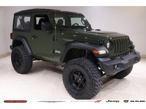 Sarge Green 2021 Jeep Wrangler Sport 4x4