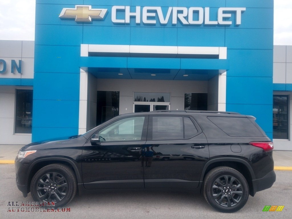 Mosaic Black Metallic / Jet Black Chevrolet Traverse RS AWD