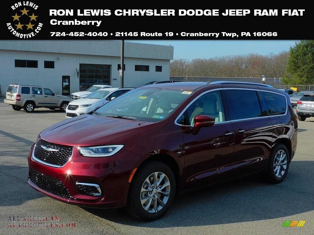 2021 Pacifica Touring L AWD - Velvet Red Pearl / Cognac/Alloy photo #1
