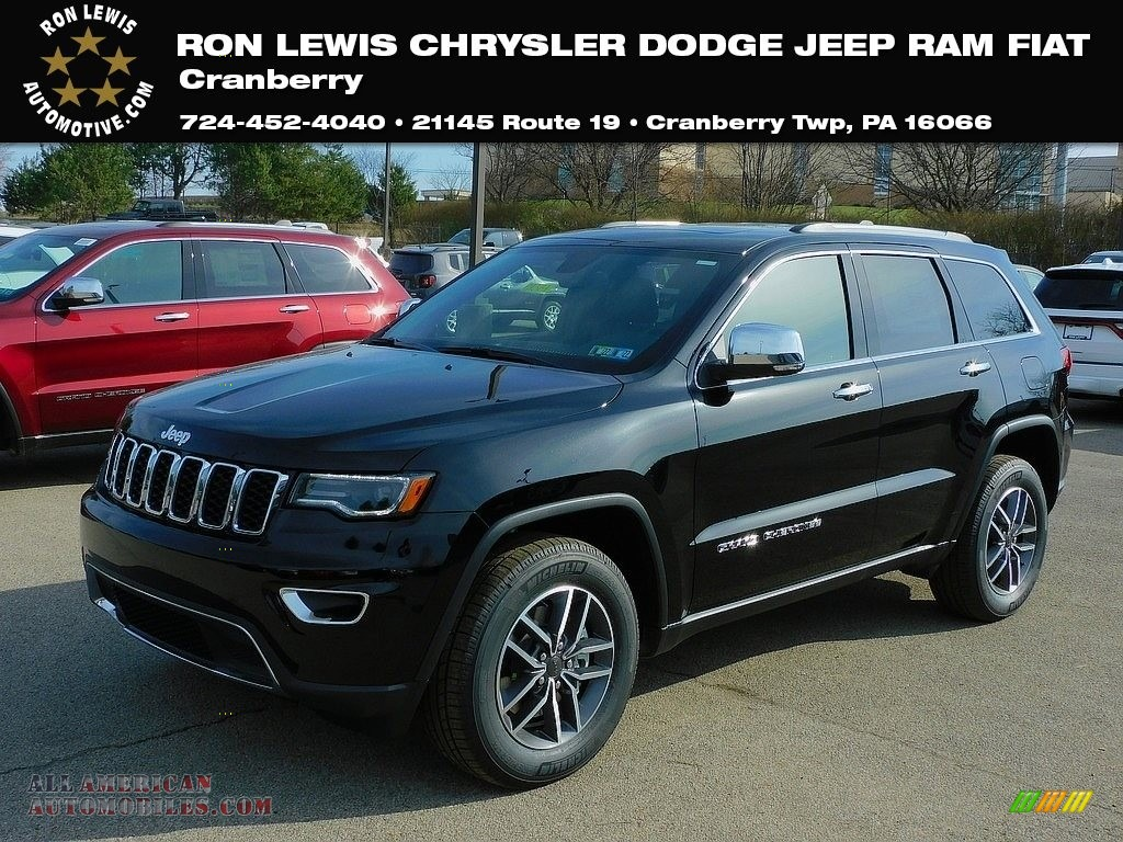2021 Grand Cherokee Limited 4x4 - Diamond Black Crystal Pearl / Black photo #1