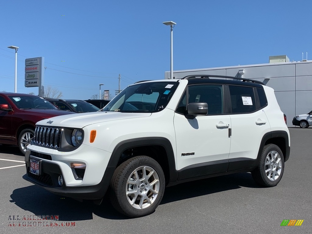 Alpine White / Black Jeep Renegade Limited 4x4