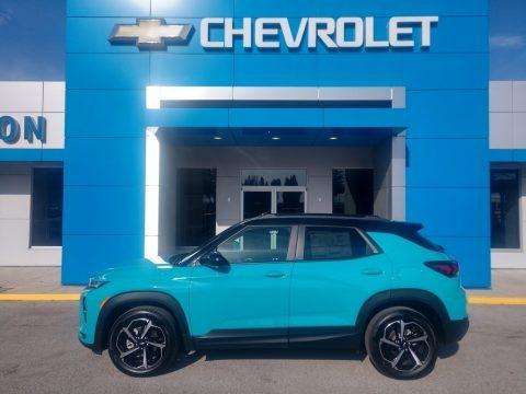 Oasis Blue 2021 Chevrolet Trailblazer RS