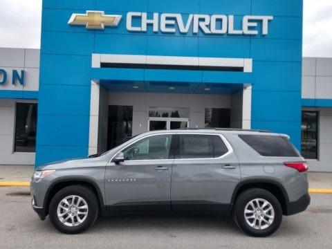 Satin Steel Metallic 2021 Chevrolet Traverse LT AWD