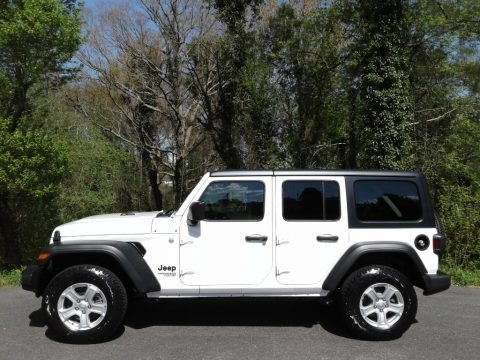 Bright White 2021 Jeep Wrangler Unlimited Sport 4x4 Right Hand Drive