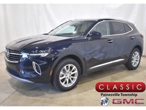 Dark Moon Blue Metallic 2021 Buick Envision Preferred AWD
