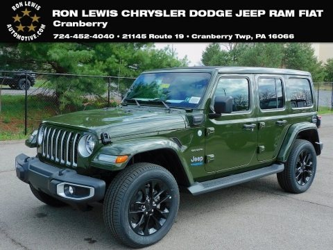 Sarge Green 2021 Jeep Wrangler Unlimited High Altitude 4xe Hybrid