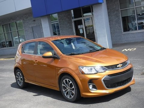 Orange Burst Metallic 2017 Chevrolet Sonic LT Hatchback