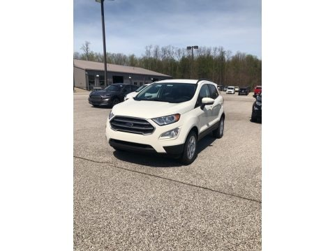 White Platinum Metallic Tri-Coat 2021 Ford EcoSport SE