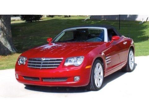 Blaze Red Crystal Pearlcoat 2005 Chrysler Crossfire Limited Roadster