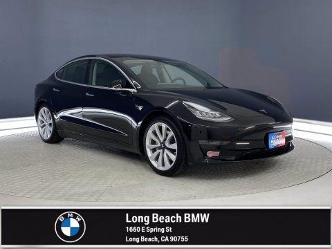 Solid Black 2020 Tesla Model 3 Standard Range