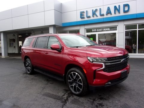 Cherry Red Tintcoat 2021 Chevrolet Suburban RST 4WD