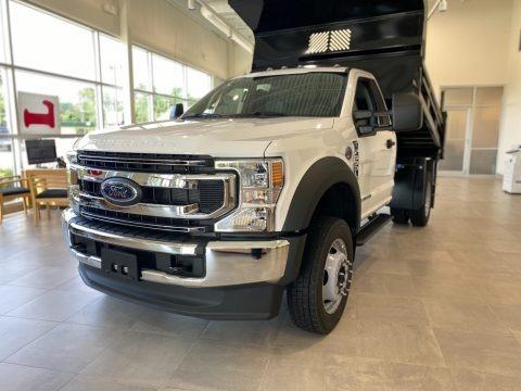 Oxford White 2021 Ford F550 Super Duty XL Regular Cab 4x4 Chassis Dump Truck