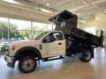 Ford F550 Super Duty XL Regular Cab 4x4 Chassis Dump Truck Oxford White photo #2