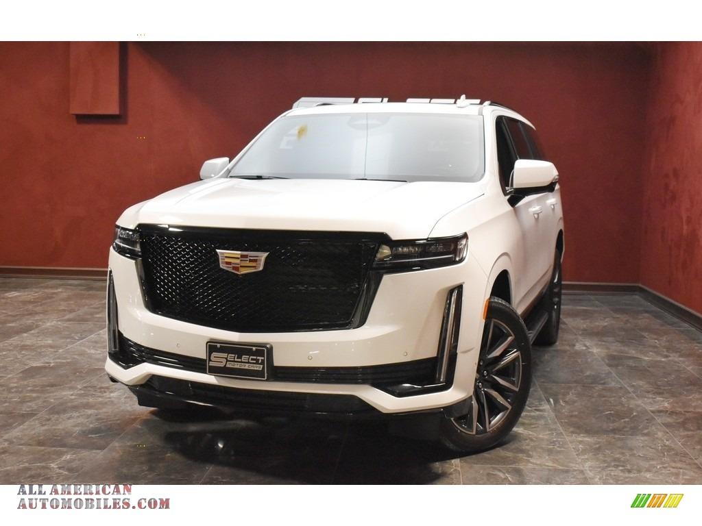 2021 Escalade Sport 4WD - Crystal White Tricoat / Whisper Beige/Jet Black photo #1