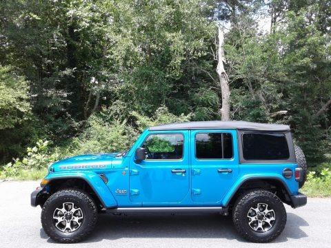 Hydro Blue Pearl 2021 Jeep Wrangler Unlimited Rubicon 4x4