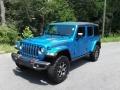 Jeep Wrangler Unlimited Rubicon 4x4 Hydro Blue Pearl photo #2