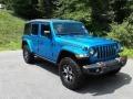 Jeep Wrangler Unlimited Rubicon 4x4 Hydro Blue Pearl photo #4