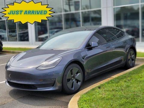 Midnight Silver Metallic 2021 Tesla Model 3 Standard Range Plus