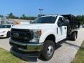Ford F350 Super Duty XL Crew Cab 4x4 Stake Truck Oxford White photo #1