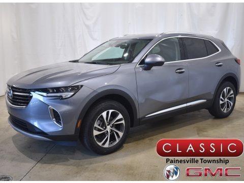 Satin Steel Metallic 2021 Buick Envision Essence AWD