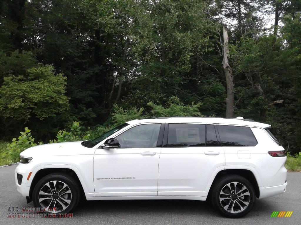 2021 Grand Cherokee L Overland 4x4 - Bright White / Global Black/Steel Gray photo #1