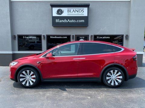 Red Multi-Coat 2020 Tesla Model X Performance