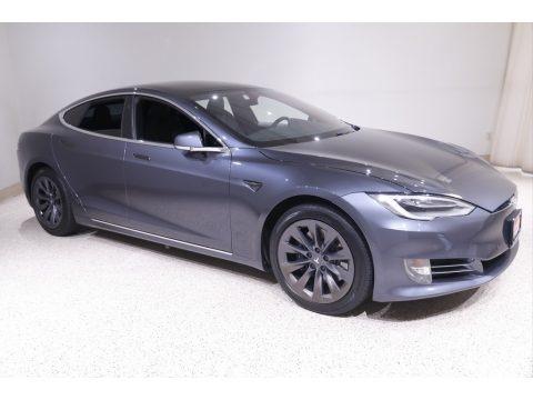 Midnight Silver Metallic 2020 Tesla Model S Long Range Plus