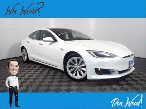 Solid White 2016 Tesla Model S 60D