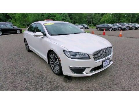 White Platinum 2019 Lincoln MKZ Reserve II AWD