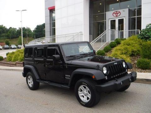 Black 2016 Jeep Wrangler Unlimited Sport 4x4