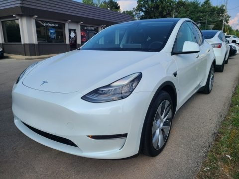Pearl White Multi-Coat 2021 Tesla Model Y Long Range AWD