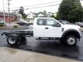 Ford F550 Super Duty XL Regular Cab 4x4 Chassis Oxford White photo #6